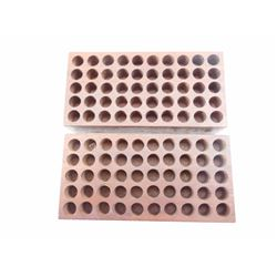 MOHAGANY .357 OR 38 CAL RELOADING BLOCKS