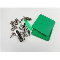 DEBURRING TOOL, CASE LENGTH TRIMMER, SHELL HOLDERS, RCBS PRIMER TRAY, ALLEN KEYS, ASSORTED