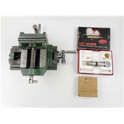 LEE 222 REMINGTON LOADER, GENERAL INTERNATIONAL VISE, 9MM BALL CDN MKI COLLECTOR BOX