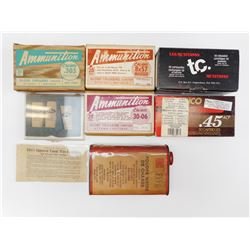 ASSORTED COLLECTIBLE BOXES, BLACK POWDER TIN