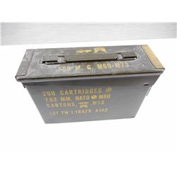 METAL AMMO TIN, STAMPED 7.62MM NATO