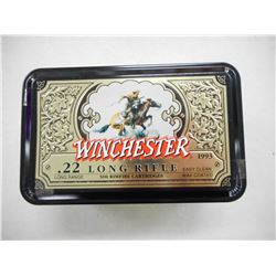 WINCHESTER 22 LONG RIFLE COLLECTOR TIN