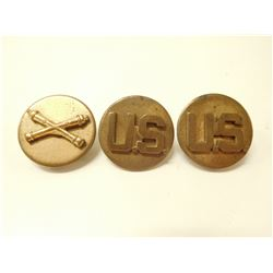 WII ERA US ARMY BRASS COLLAR DISCS