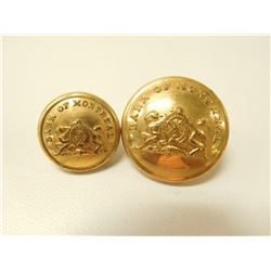 VINTAGE BANK OF MONTREAL GILT UNIFORM BUTTONS