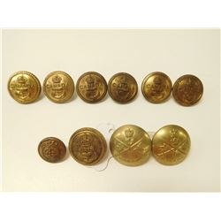 CANADIAN NAVY & POLICE UNIFORM BUTTONS