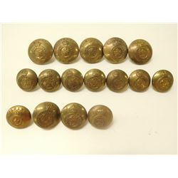 CANADIAN GENERAL SERVICE & GEO V  UNIFORM BUTTONS