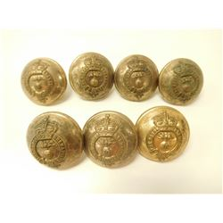 THE ROYAL GRENADIERS LARGE BRASS UNIFORM BUTTONS