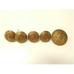 EDWARDIAN CANADIAN MILITARIA UNIFORM BUTTONS