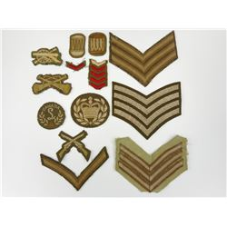 CANADIAN WWII MILITARY RANK & TRADE BADGES