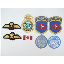 ASSORTED CANADIAN AIRFORCE/UN/NATO CLOTH BADGES