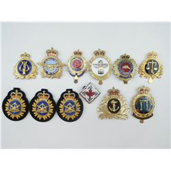 ASSORTED CANADIAN FORCES METAL & CLOTH BADGE
