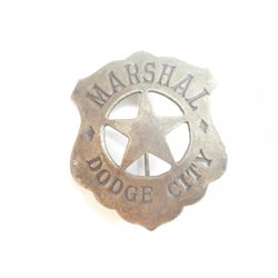 MARSHAL DODGE CITY CHEST BADGE WITH STAR