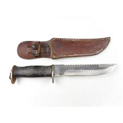 U.S N. WATERMAN FIGHTING KNIFE WITH SHEATH