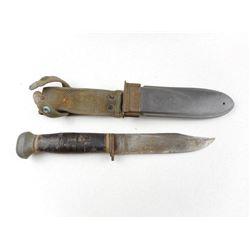 U.S.N. MK 1 PAL FIGHTING KNIFE WITH SHEATH