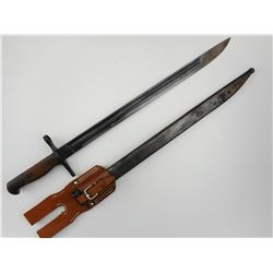 JAPANESE BAYONET WITH REPRODUCTION FROG