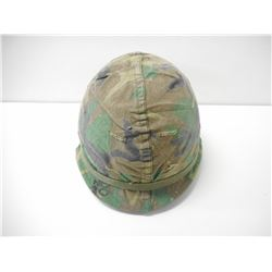 U.S. MILITARY STEEL HELMET WITH LINER & SPARE COVER