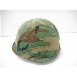 U.S. MILITARY STEEL HELMET WITH LINER & COVER