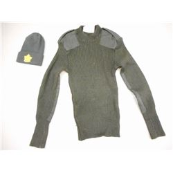 CANADIAN ARMY WOOL SWEATER & CADET TOQUE