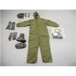 NUCLEAR BIOLOGICAL SUIT WITH ACCESSORIES
