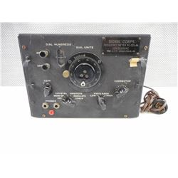 U.S. SIGNAL CORPS FREQUENCY METER