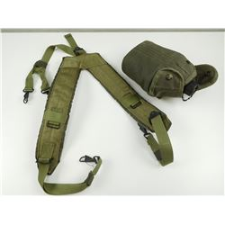 U.S MILITARY PISTOL BELT SUSPENDERS & WWI CANTEEN