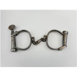 ANTIQUE HIATT HANDCUFFS WITH KEY