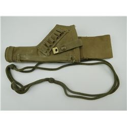 MILITARY HOLSTER FOR P37 CONVERTED FROM TANKER FOR ENFIELD 38 REVOLVER & LANYARD