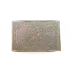 BRONZE U.S. BELT BUCKLE FEATURING EAGLE