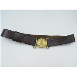 MILITARY LEATHER BELT WITH 2-PIECE BUCKLE