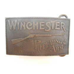 WINCHESTER REPEATING ARMS BRASS BUCKLE
