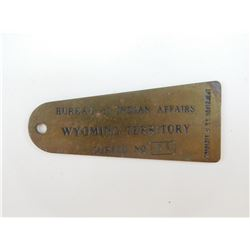 INDIAN WARS US BUREAU OF INDIAN AFFAIRS BRASS CORPS TAG