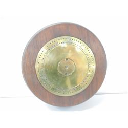 WWI 4.5 IN HOWIZTER TRENCH ART CRIBBAGE BOARD