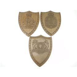 WOODEN MILITARY CRESTS
