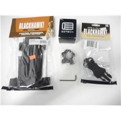 BLACKHAWK TACTICAL BUTTSTOCK MAG POUCH, SLING ADAPTER & EOTECH RING MOUNT