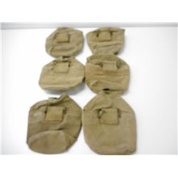 WWII ERA U.S. MILITARY MARINE BAY WING CANTEEN POUCHES