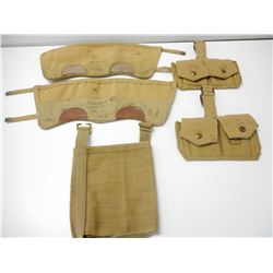 WWII ERA CANADIAN ASSORTED WEBBING & GAITERS