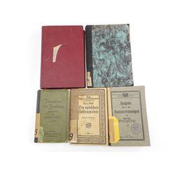 PRE WWI & WWI ERA GERMAN BOOKS