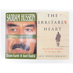 GULF WAR NOVEL & HUSSEIN BIOGRAPHY