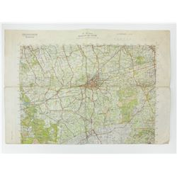POST WAR DUTCH MILITARY MAP OF WEST GERMANY