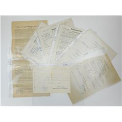WWII GERMAN LUFTWAFFE VETERAN  DOCUMENTS