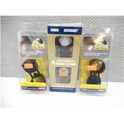 BUTLER CREEK FLIP CAP SCOPE COVERS & UTG AIRGUN/.22 RINGS