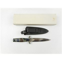 DOUBLE EDGED KNIFE WITH SHEATH