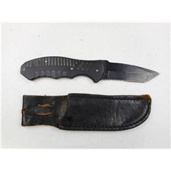 STAINLESS STEEL FIXED BLADE KNIFE WITH SHEATH