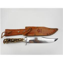 ORIGINAL PUMA BOWIE KNIFE WITH LEATHER SHEATH