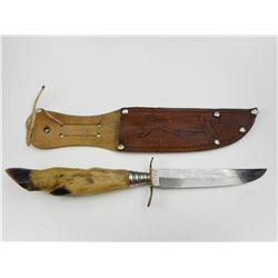 FOOT HANDLED KNIFE WITH SHEATH