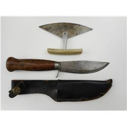 FROST HUNTING KNIFE & INUIT SCRAPING/SKINNING KNIFE