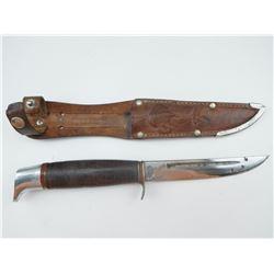 BUFFALO BRAND FIXED BLADE KNIFE WITH SHEATH
