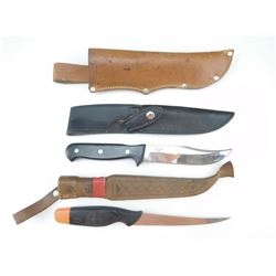 ASSORTED FIXED BLADE KNIVES & SHEATHS