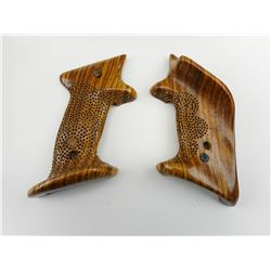 CUSTOM WOODEN TARGET GRIPS FOR RUGER MKII PISTOL