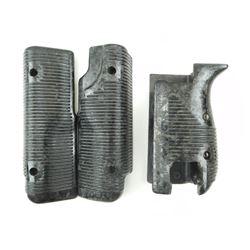 BLACK PLASTIC GRIPS & FOREND FOR UZI SUBMACHINE GUN